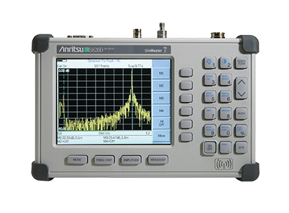 Anritsu Broadband Site Master S820D Cable & Antenna Analyzer, 2 MHz To 20 GHz Rental