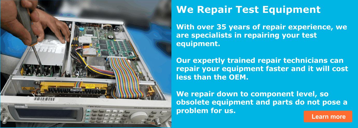 test equipment repair services