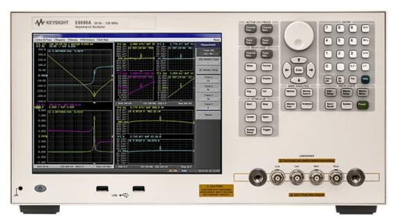 Keysight (formerly Agilent T&M) E4990A-120-1E5 Impedance Analyzer, 20 Hz To 120 MHz